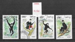 Mammifère Singe - Laos N°1066 à 1069 1992 O - Scimmie