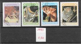 Mammifère - Laos N°1081 à 1084 1993 O - Scimmie