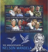 Centrafrica 2013, Nelson Mandela, Queen Elisabeth, Beyoncè, C. Dion, Fidel Castro, 4val In BF - Famous People