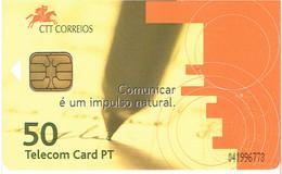 PHONECARDS-- PORTUGAL-CHIP--9€-  COMUNICAR É UM IMPULSO NATURAL - Portugal