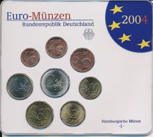 Deutschland 2004 - Offizieller Kursmünzensatz Stempelglanz - Hamburg (J) - Germany