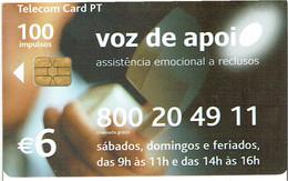 PHONECARDS-- PORTUGAL-CHIP--6€-VOZ DE APOIO - Portugal