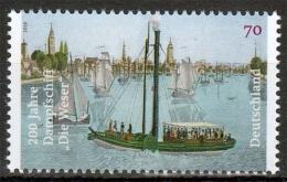 """Bund MiNr. 3273 ** 200 Jahre Dampfschiff """"Die Weser"""" - BRD"""