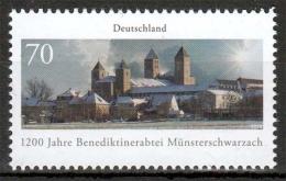 Bund MiNr. 3258 ** 1200 Jahre Benediktinerabtei Münsterschwarzach - Nuovi