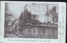 STUTTGART DER BRAND DES KGL HOFTHETARS 1902        TOP CARTE PANORAMIQUE - Allemagne