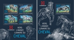 Centrafrica 2013, Year Of The Horse, 4val In BF+BF - Astrologia