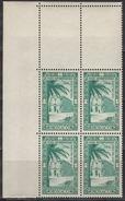 MONACO 1949  BLOC DE 4 TP COIN DE FEUILLE  N° 38  - NEUFS** - Posta Aerea
