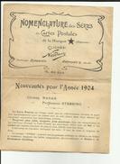 Dépliant Publicitaire - Edition De Cartes Postales - 1904 - Cliché NADAR - Liste Des Cartes - Réf.11 2 Scanns - - Francia