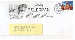 (448) Australia FDC - Souvenir Telegram - Sydney Harbour Bridge - 1932/2007 (stamp Expo Souvenir) - Briefe U. Dokumente