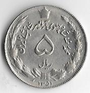 Iran 1972 (1351) 5 Rials [C138/1D] - Iran