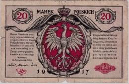 POLAND 1916 German Occuptaion  20 Marek General Circulated - Poland