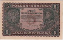 POLAND 1920 5 Marek Uncirculated II Serja DR No.704,845 - Poland