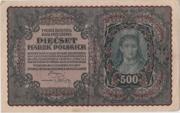 POLAND 1920 500 Marek Circulated I Serja BK Nr.239952 - Pologne