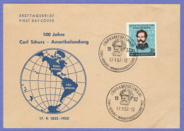 GER 1952 Carl Schurz FDC 09-17-1952 - [7] Federal Republic