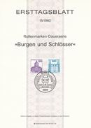 BRD / First Day Sheet (1982/15) 5300 Bonn 1: Castles And Palaces (Charlottenburg; Ahrensburg) - Castles