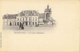 Chateaudun - La Caisse D'Epargne - Dos Simple, édition Lassedat, Carte Non Circulée - Banks