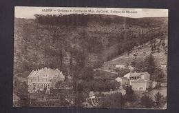 CPA 30 - ALZON - Château Et Ferme De Mgr. Du Curel - Evêque De Monaco - TB PLAN Des 2 Habitations - France