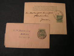 Britsch Guyana Gergestown 1891-1894 Two Wrapper Lot To Germany - Britisch-Guayana (...-1966)