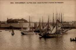 29-CONCARNEAU..ASPECT  DU PORT A L'ARRIVEE DES THONNIERS...CPA - Concarneau