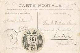 """VIGNETTE MILITAIRE """" LA CLASSE ! DANS 351 JOURS """" CASERNE MILITAIRE CHALONS-SUR-MARNE RUE DE MARNE GUERRE - Guerra 1914-18"""