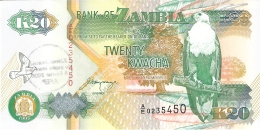 ZAMBIE   20 Kwacha   1992   Sign.11   (Tampon AFEP 2005)   P. 36b   UNC - Zambie