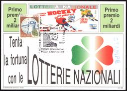 ITALIA BOLZANO 20.04.1994 -  ICE HOCKEY WORLD CHAMPIONSHIP - CARTOLINA LOTTERIA NAZIONALE - Hockey (su Ghiaccio)
