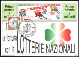 ITALIA BOLZANO 25.04.1994 -  ICE HOCKEY WORLD CHAMPIONSHIP - CARTOLINA LOTTERIA NAZIONALE - Hockey (su Ghiaccio)