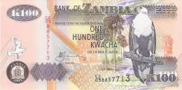 ZAMBIE   100 Kwacha   2003   Sign.12   P. 38d   UNC - Zambie