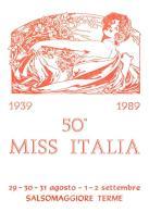 [MD1008] CPM - IN RILIEVO - SALSOMAGGIORE TERME (PARMA) - 50° MISS ITALIA - BERTOLETTI -  DISEGNO FRED H. BALL - NV 1989 - Parma