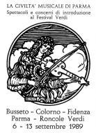[MD1015] CPM - IN RILIEVO - PARMA - LA CIVILTA' MUSICALE - SPETTACOLI E CONCERTI - BERTOLETTI - NV 1989 - Parma