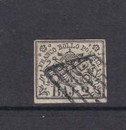 Italian States Papal States 1852 Baj 2 White Used - Papal States