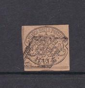 Italian States Papal States 1852 Baj 3 Bistre Orange Used - Papal States