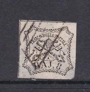 Italian States Papal States 1852 Baj 8 White Used - Papal States