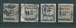 France Colonie  Timbres De Martinique  De 1891/92  N°19 A 22  Oblitérés Cote 72€ - Martinique (1886-1947)