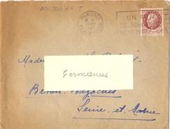 PARIS-VIII 49 R. LA BOETIE OM FRANKERS Du 28-VIII 1943 UN BON / DE SOLIDARITE / NE SE REFUSE PAS - Oblitérations Mécaniques (flammes)