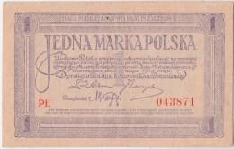 POLAND 1919 5 Marka Uncirculated PE 043871 - Poland