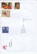 Portogallo   2017 - Bustone X L'Italia  Affrancato Con 3 Stamps - 1910-... República