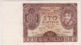 POLAND 1934 100 Zloty Uncirculated Ser.AX. 7191694 - Pologne