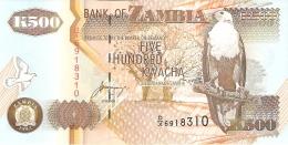 ZAMBIE   500 Kwacha   1992   Sign.11   P. 39b   UNC - Zambie