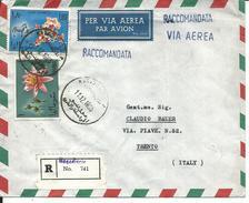 SOM040 - SOMALIA - LETTERA  RACCOMANDATA PER VIA AEREA - DA MOGADISCIO A TRENTO -  VIAGGIATA 11.12.1965 - Somalia (1960-...)