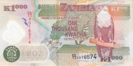 ZAMBIE   1000 Kwacha   2005   Sign.12   P. 44d  UNC - Zambie
