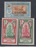 Inde N° 81 / 83 X Partie De Série : Les 3 Valeurs Surchargées  Trace De  Charnière Sinon TB