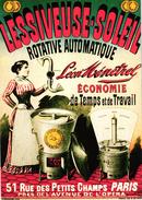 PUBLICITE - LESSIVEUSE SOLEIL ROTATIVE AUTOMATIQUE LEON MENETREL - Publicité