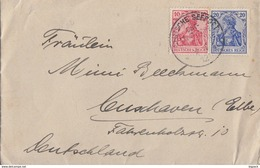 DR Brief Mif Minr.86II, 87II Dt. Seepost Ost-Asiatische Linie 9.4.12 - Briefe U. Dokumente