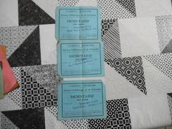 CASINO REMOIS DEMI-TARIF DEUX PLACES TOUS LES JOURS SAUF SAMEDI & DIMANCHE 3 BILLETS - Eintrittskarten