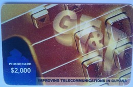 Guyana Phonecard GT & T $2,000 Remote - Guyane