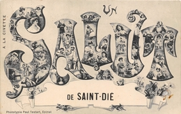 88-SAINT-DIE- UN SALUT DE SAINT-DIE - Saint Die