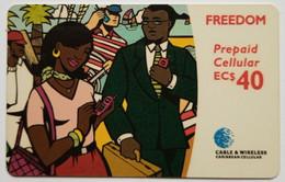 Caribbean Phonecard EC$40 Freedom Cellular - Schede Telefoniche