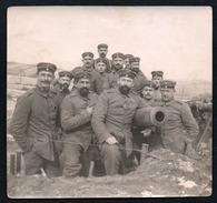 A1041 - Altes Foto - 1. WK WW - Soldaten Am Kanonenstand - Kanone Front - Regt. 12 - War 1914-18