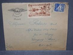 FRANCE / ALGÉRIE - Vignette Touristique Sur Enveloppe D' Hussein Dey En 1929 Pour La France  - L 7376 - Algérie (1924-1962)